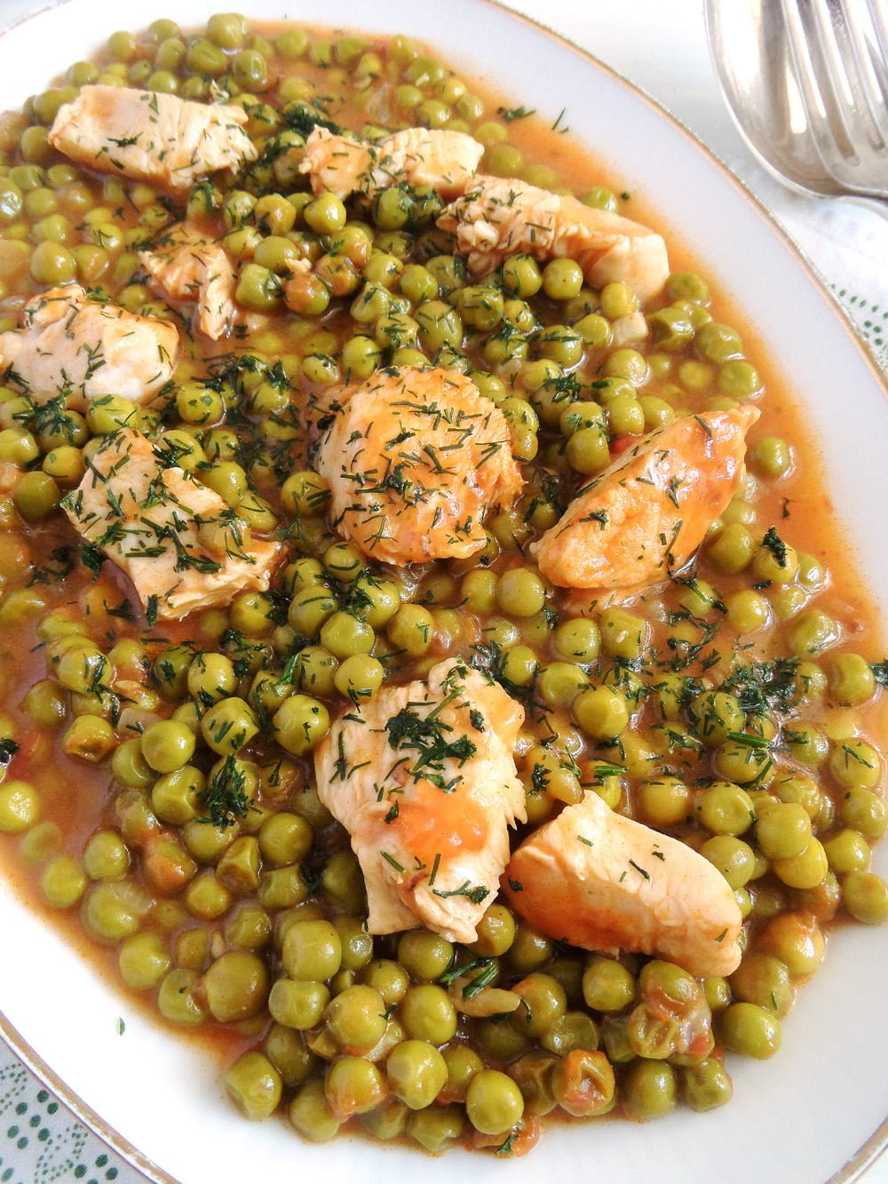 pea and chicken stew Romanian Pea and Chicken Stew