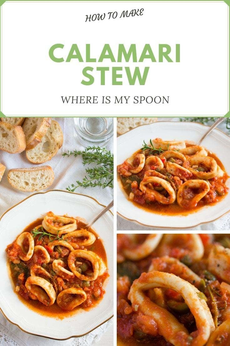 pin calamari stew 735x1102 Calamari Stew in Tomato Sauce