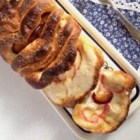 plum bread with cinnamon on the table