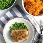 lime crusted salmon with sweet potato mash