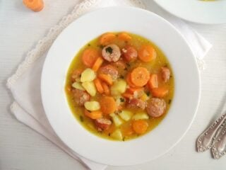soup for children with potatoes and carrots