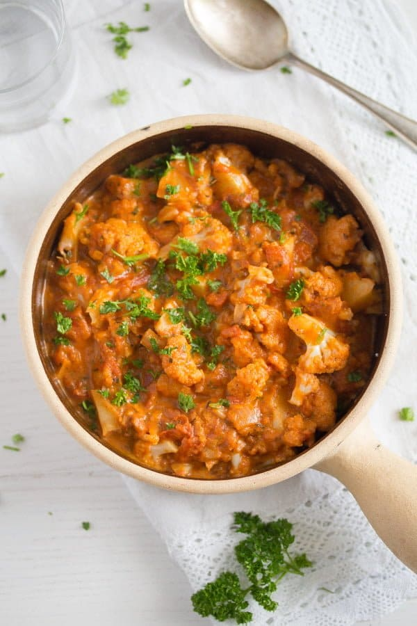 cauliflower in tomato sauce 5 Cauliflower In Tomato Sauce – Vegan Cauliflower Recipe
