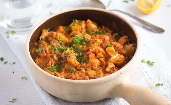 cauliflower in tomato sauce 8 Cauliflower In Tomato Sauce – Vegan Cauliflower Recipe