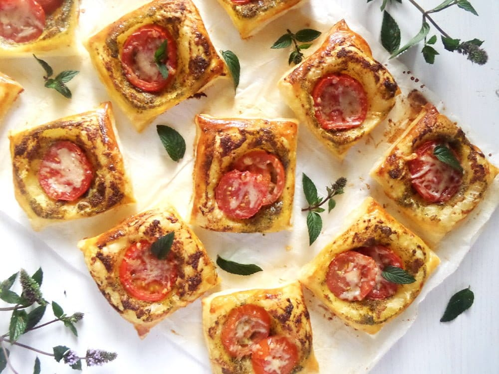 Puff Pastry and Pesto Nibbles
