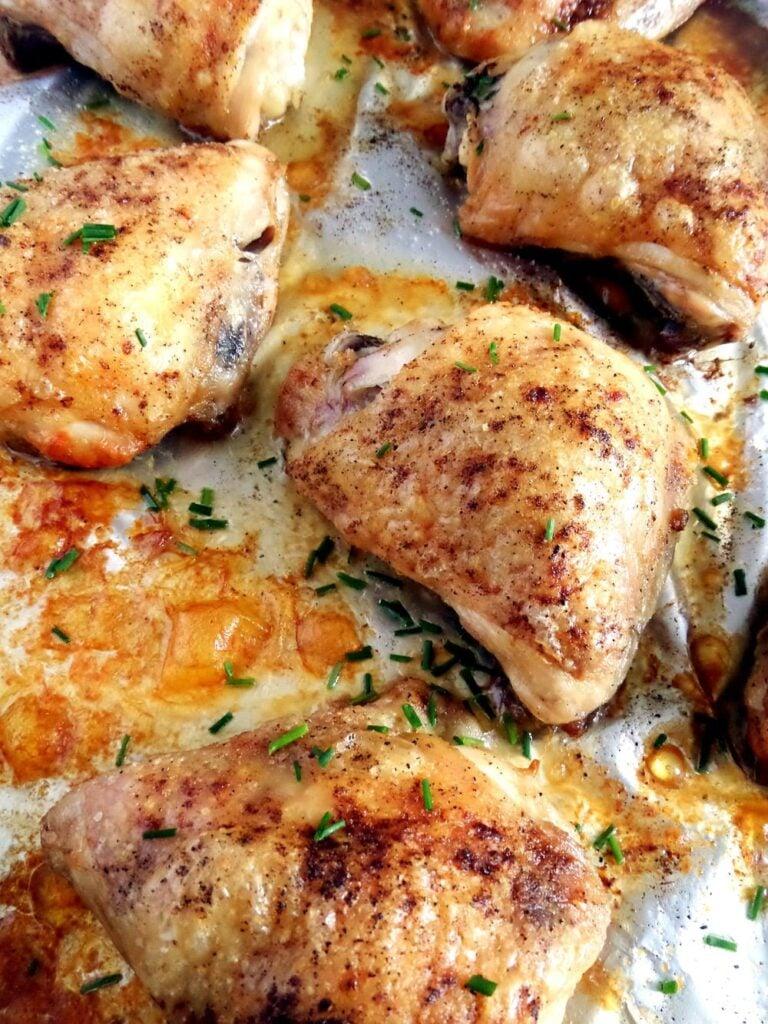 chicken thighs basic f 768x1024 Skillet Chicken Breasts with Velvety Orange Sauce