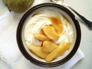 pears with yogurt 300x225 pears with yogurt