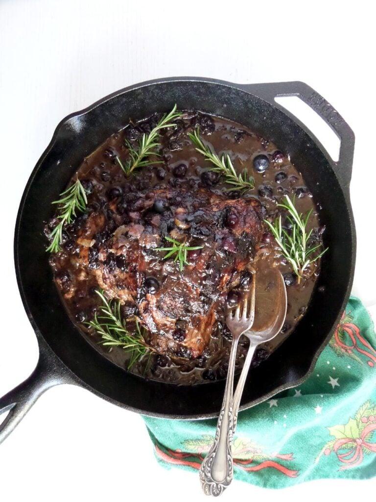 turkey blueberries 768x1024 Turkey Breast In Blueberry Balsamic Mustard Sauce with Rosemary