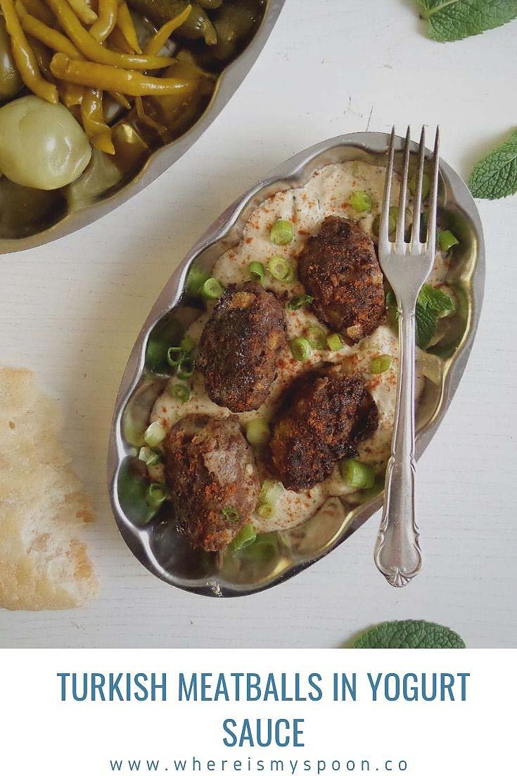 turkish meatballs in yogurt sauce Turkish Meat Rolls