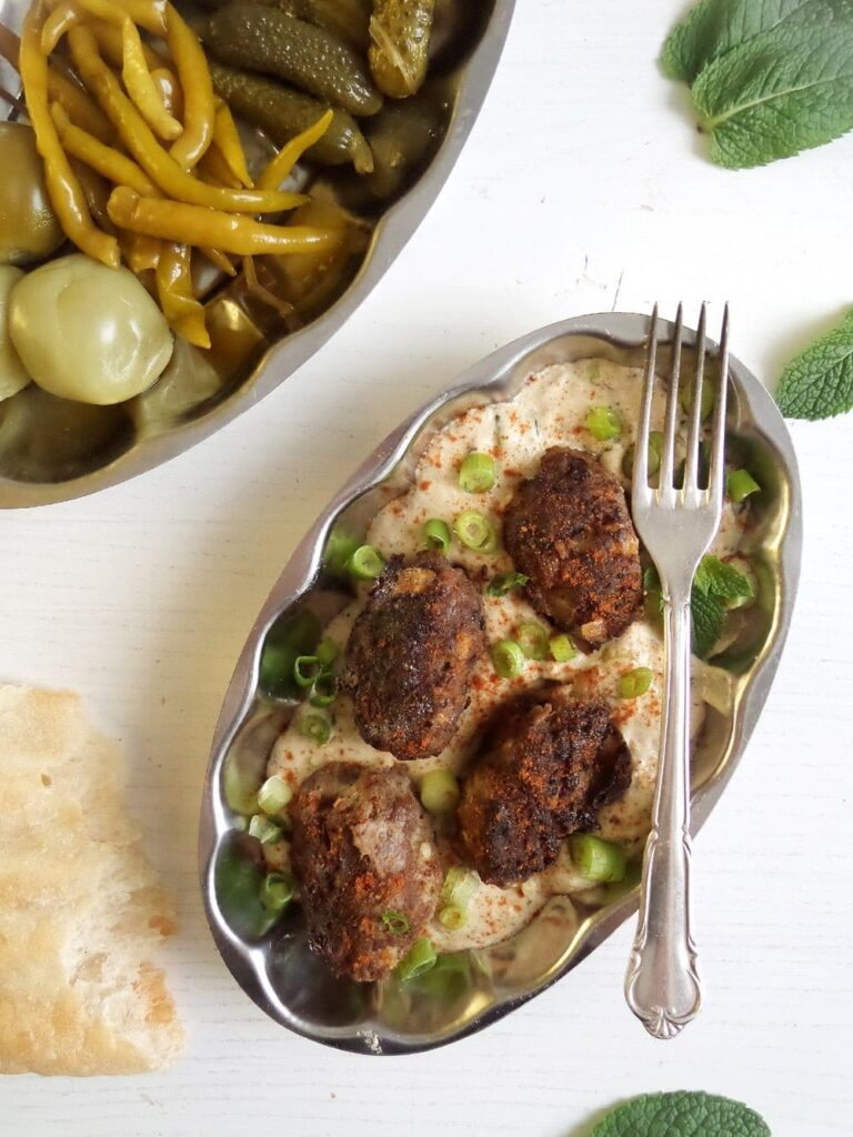 turkish meatballs yogurt 768x1024 Turkish Meat Rolls