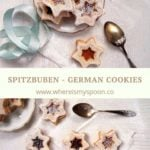 Spitzbuben cookies with jam German cookies