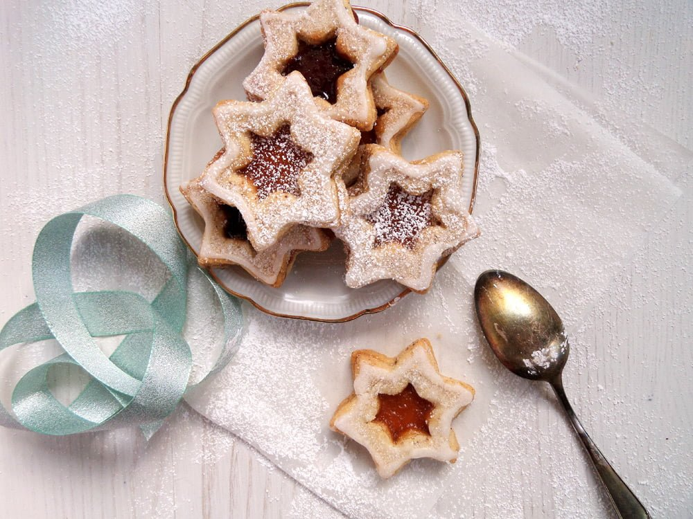 star cookies german Orange and Jam Swirl Butter Cookies
