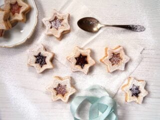 German Christmas cookies spitzbuben on the table