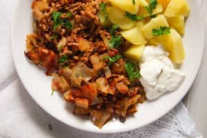 stuffed cabbage casserole 5 300x200 Stuffed Cabbage Casserole with Bacon and Ground Pork