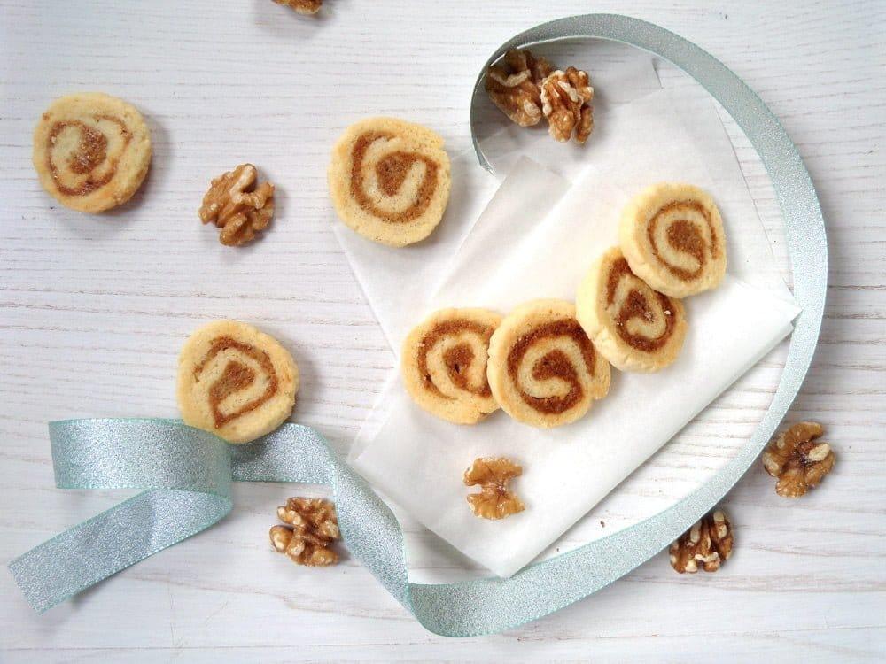 walnut cookies pastry German Walnut Marzipan Cookies
