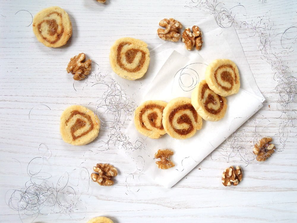 german marzipan cookies with nuts