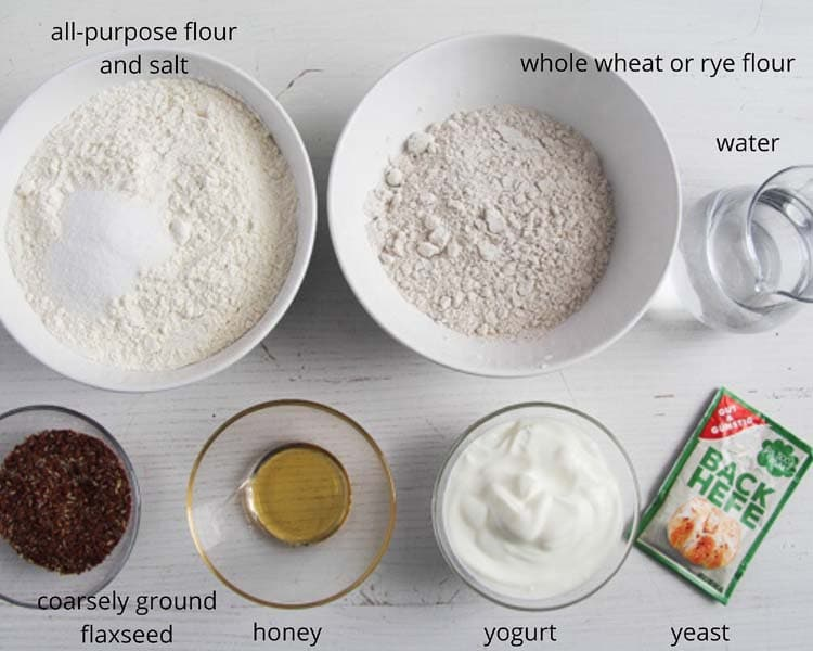 ingredients flaxseed bread