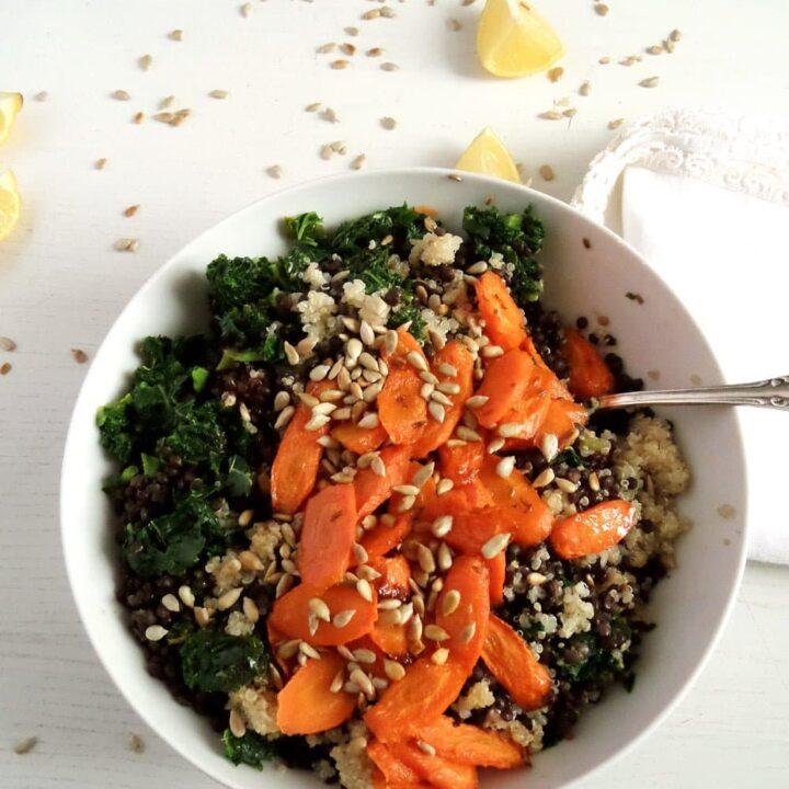 Lentil Quinoa Carrot Salad