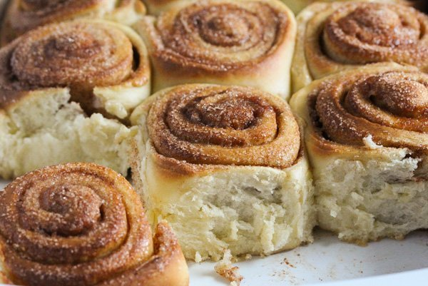 fluffy sweet rolls with cinnamon