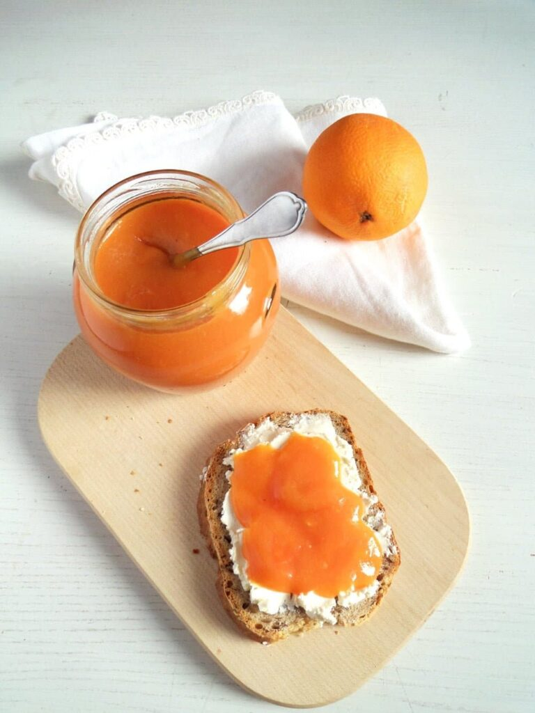 blood orange spread 768x1024 Orange Jam   Low Sugar Jam