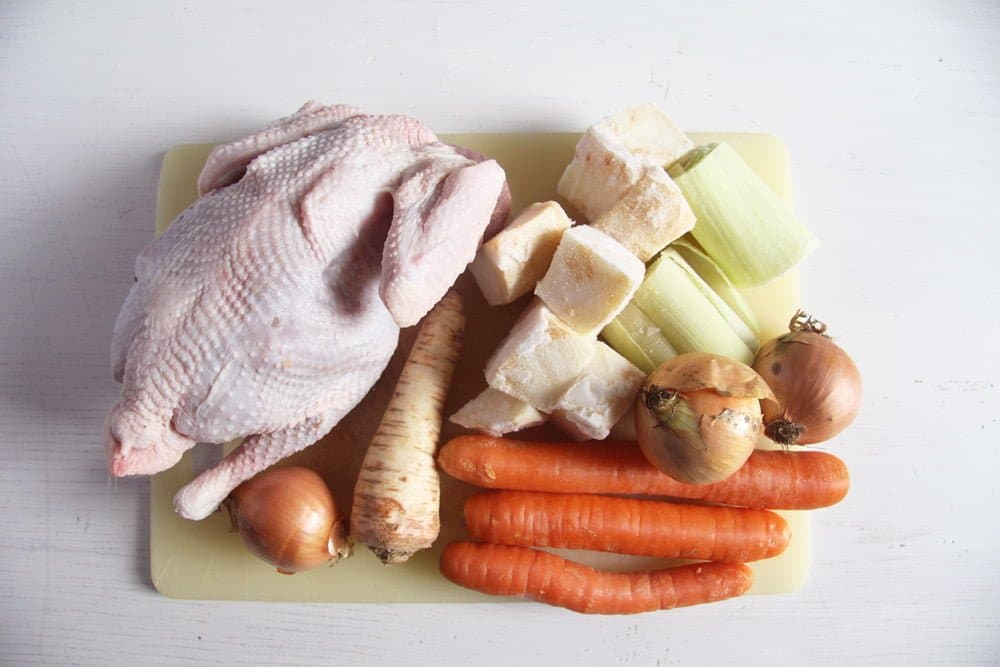 chicken stock How to Make Chicken Stock and Romanian Semolina Dumpling Soup