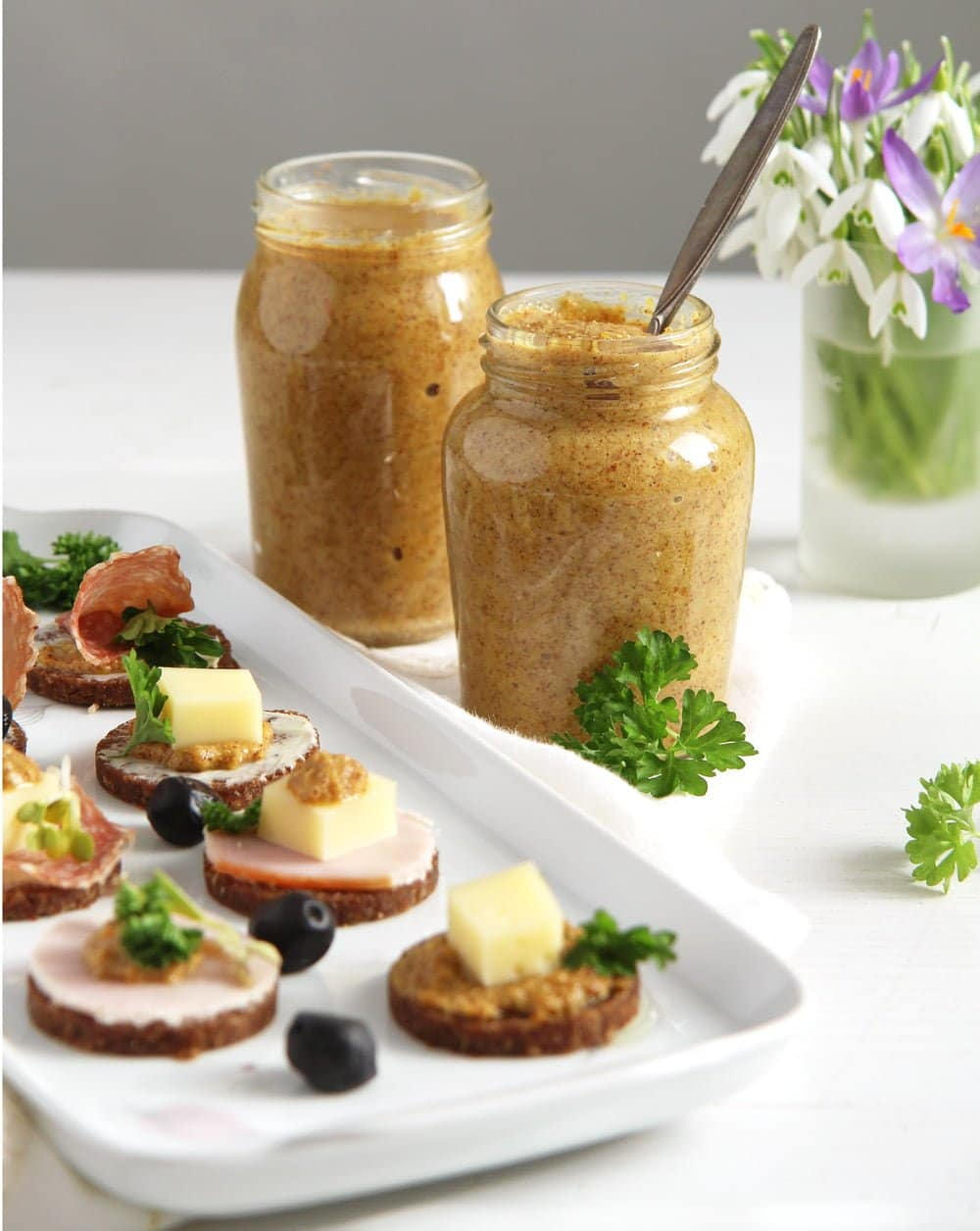 mustard canapes homemade Romanian Easter Chicken Drob or Pastete   Drob de pui