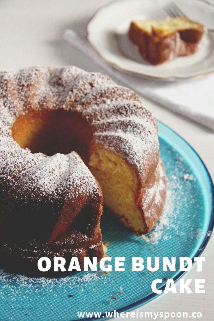 , Moist Orange Bundt Cake