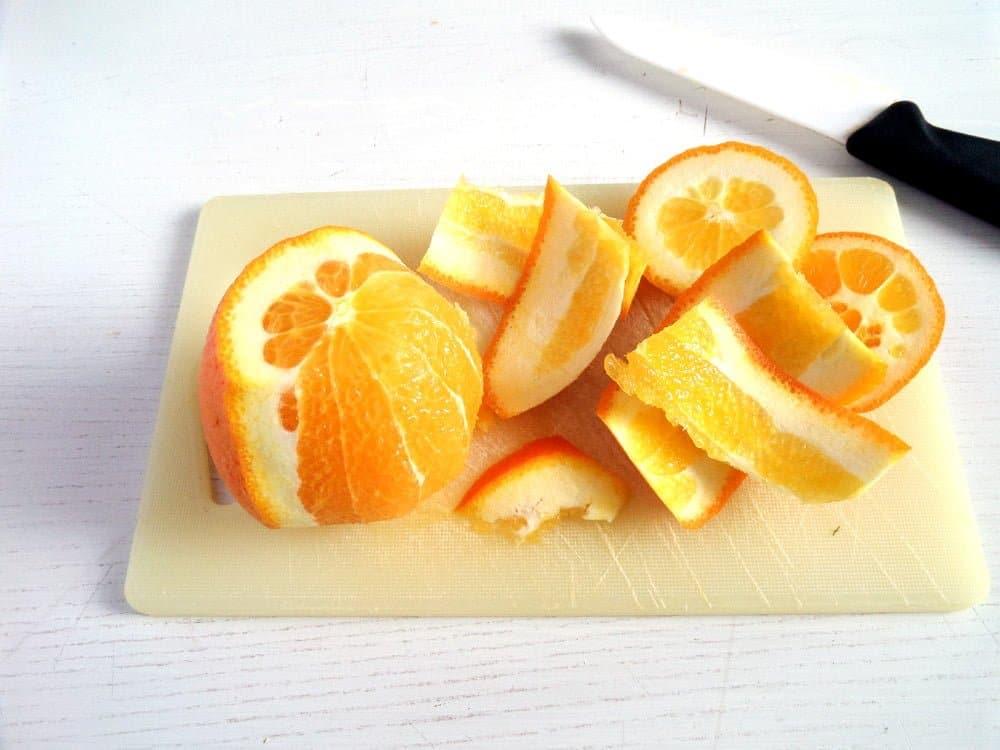 how to cut orange segments