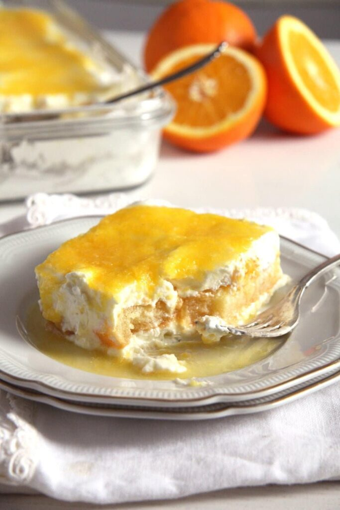Orange Tiramisu with mascarpone