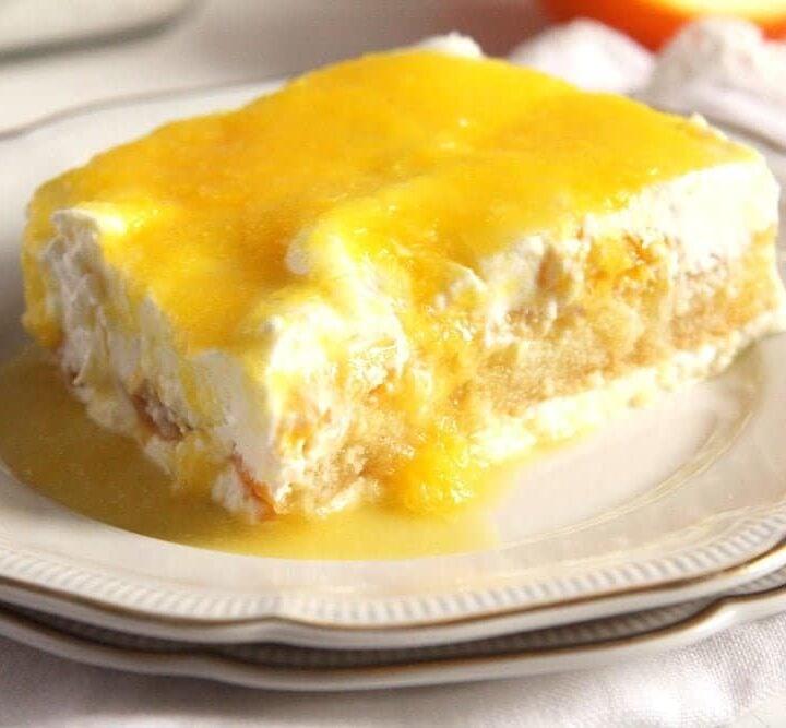 orange mascarpone dessert tiramisu