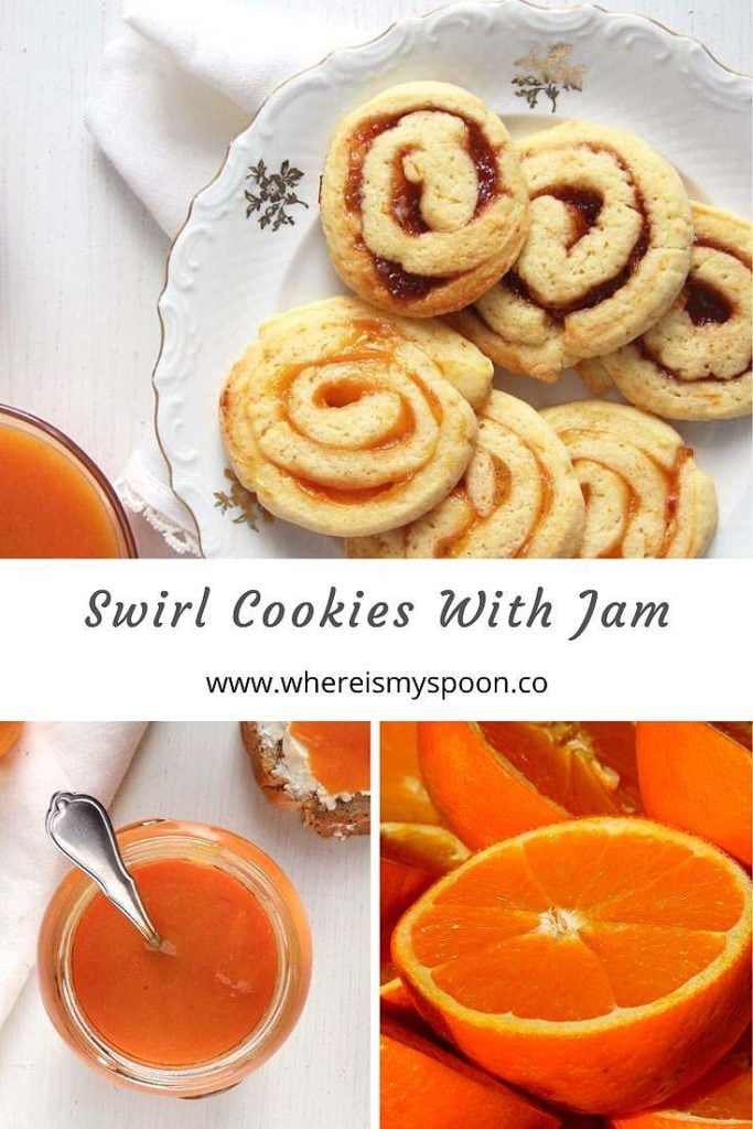 swirl cookies with orange jam