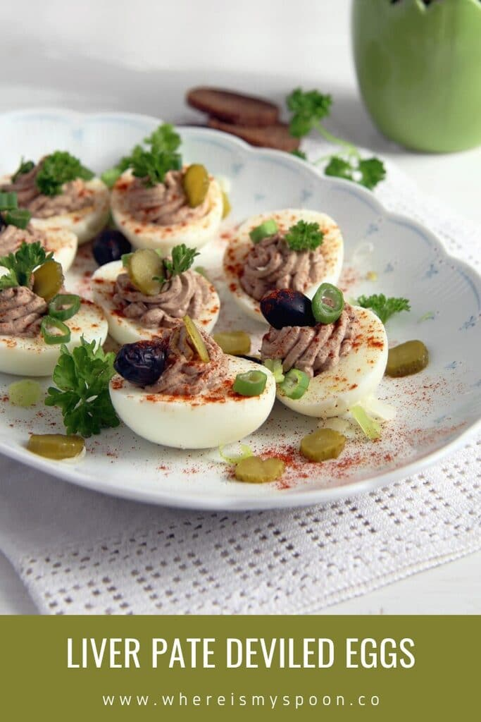 egg appetizers stuffed with chicken liver pate