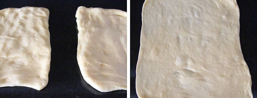 how to roll yeast dough