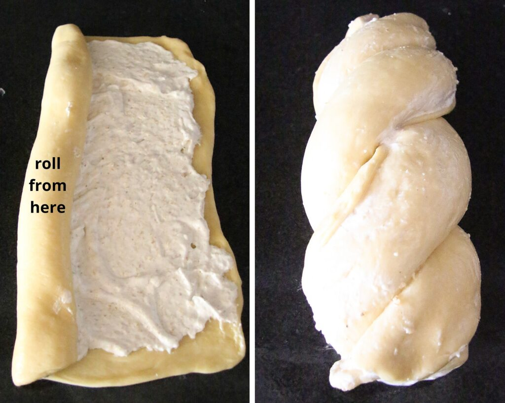 how to braid filled yeast dough