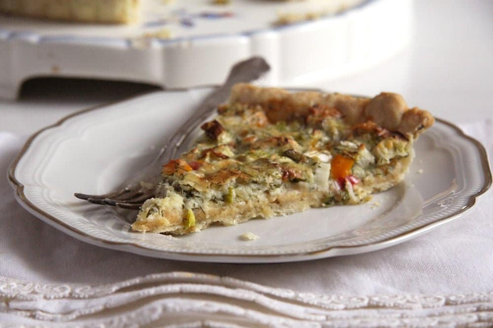 quiche cheese Green Onion and Cheese Quiche with Peppers and Dill