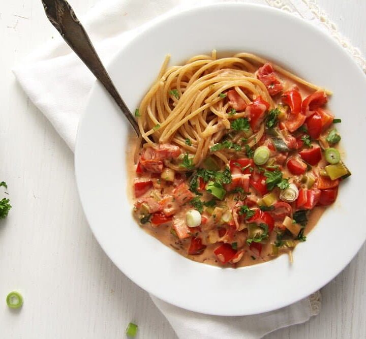 green onion pasta sauce with cream cheese