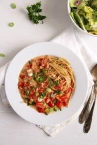 spaghetti green onion sauce 200x300 spaghetti green onion sauce