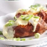 Baked Sweet Potatoes with Green Onions