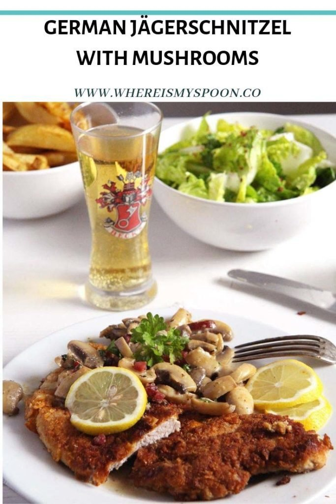 Jägerschnitzel - German Schnitzel with Mushrooms