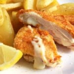 chicken schnitzel filled 150x150 Crispy Chicken Schnitzel with Ham and Cheese