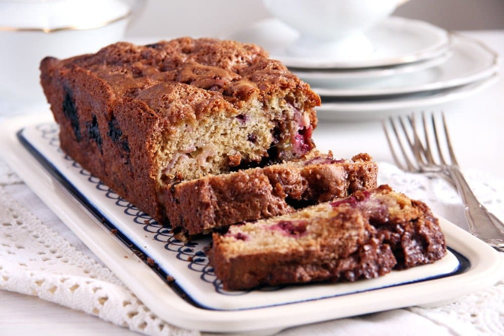 rhubarb bread blackberry Trail Mix Apple Bread with Hazelnuts and Spices