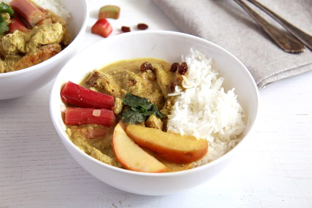 rhubarb chicken stew Vegan and Easy Chickpea Zucchini Curry with Cashew Nuts