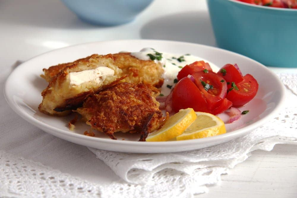 schnitzel potato Crispy Chicken Schnitzel with Ham and Cheese