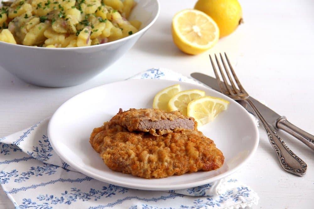 wiener schnitzel veal Wiener Schnitzel   Classic Austrian Schnitzel with Veal Escalopes