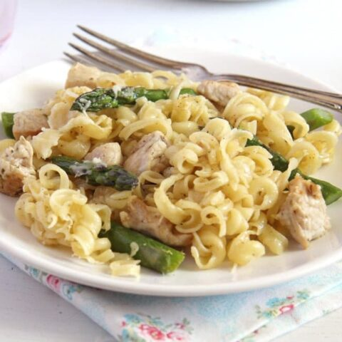 chicken asparagus casserole ready to be served