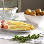 asparagus hollandaise ham 150x150 White Asparagus with Sauce Hollandaise and Ham   German Recipe