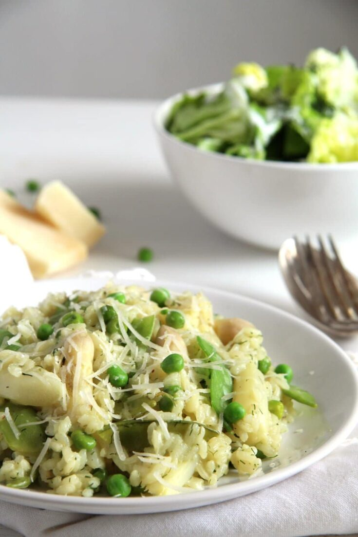 pea and asparagus risotto, Pea and Asparagus Risotto