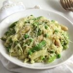 asparagus risotto sugar pea 150x150 Creamy Asparagus Risotto with Peas, Dill and Parmesan