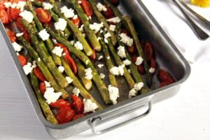 asparagus roasted 300x200 Healthy Cauliflower Feta Casserole with Olives and Dill