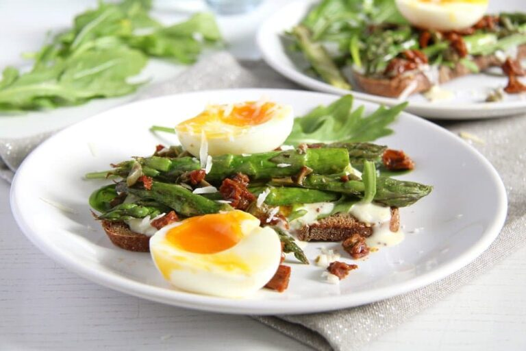 asparagus sandwich egg 768x512 Asparagus Soft Boiled Egg Toast with Parmesan and Capers