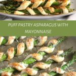 asparagus spears wrapped in pastry